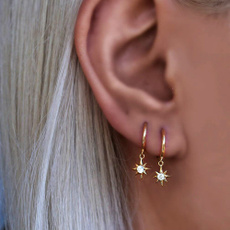 Star, Jewelry, gold, Earring