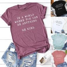 Summer, Plus Size, Graphic T-Shirt, letter print