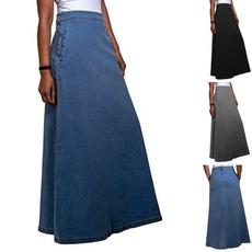 denim dress, Plus Size, Ladies Fashion, Skirts
