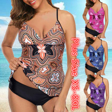 Plus Size, women beachwear, bikini set, Plus Size Swimwear