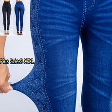 Blues, denimjegging, slim, high waist