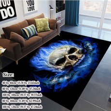Blues, softcarpet, Home Decor, skull