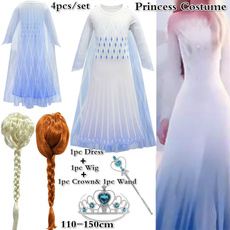elsa dress, tulle, Cosplay, Princess