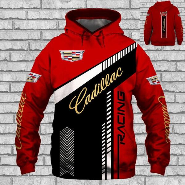 Cadillac Escalade//CT6//XT5//CTS-V Racing-Long Sleeved-3D// Man/'s-TOP GIFT