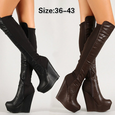 wedge, Fashion, tallboot, Women Boots