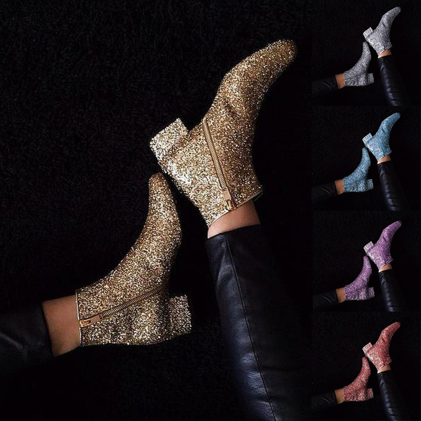 Side Zip Ankle Boots Stivali Botte
