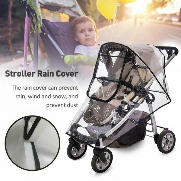 Pushchair Rain Cover Universal Buggy Raincover For Baby Stroller Pram Waterproof