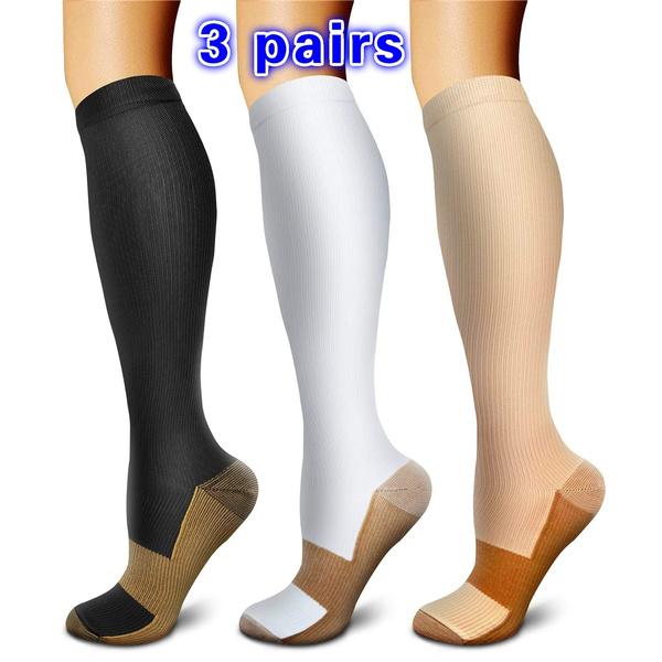 Copper, footcaresock, womencompressionsock, kneehighsock