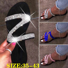 Plus Size, DIAMOND, Slippers, Bright