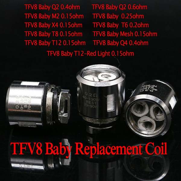 Replacement Core Tfv8 Baby Beast Coil Head V8 Baby Q2 M2 V8 Baby Q4 X4 T6 T8 T12 Mesh For Smok Tfv8 Baby Tfv12 Baby Prince Tank Wish