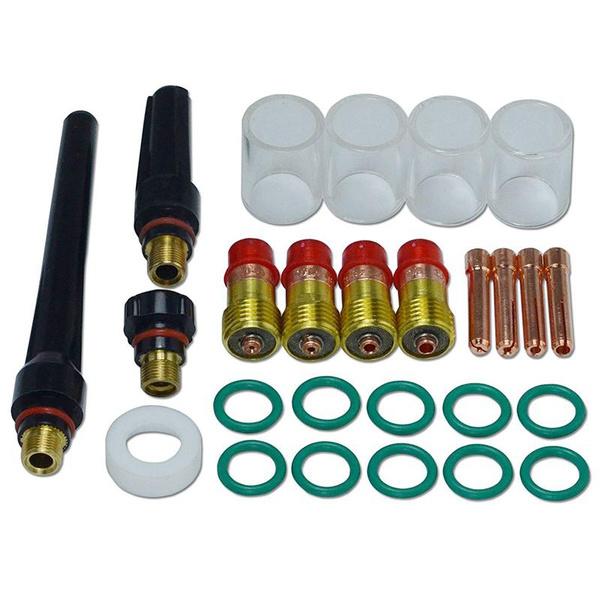 TIG Stubby Gas Lens Collet Kit for DB SR WP 17 18 26 TIG Welding Torch 54pcs