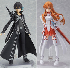 Anime Sword Art Online Sinon Asuna Kirito Action Figure Figma Toy Collection Kid