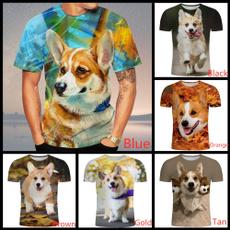 Mens T Shirt, Fashion, 3dcorgitshirt, Summer