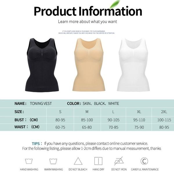 Vest, Plus Size, Tank, slimmingshirt