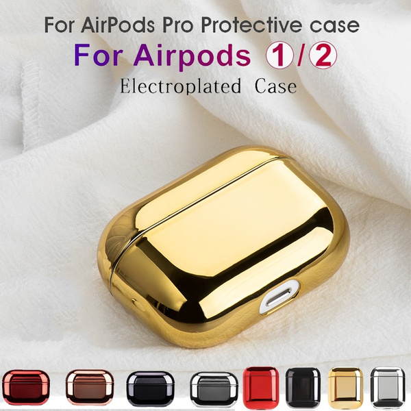 Luxury Gold Protective Cases For Airpods Pro Electroplated