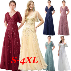 Bridesmaid, dressesforwomen, ruffle, Sleeve
