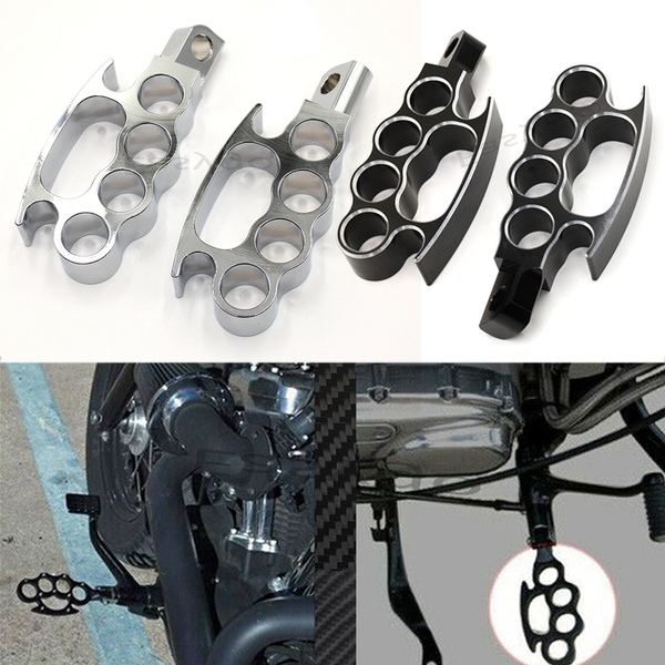 Motorcycle Footrests Control Black Footpegs Foot Pegs Custom Pedal For Harley Sportster Xl Dyna Softail V Rod Wish