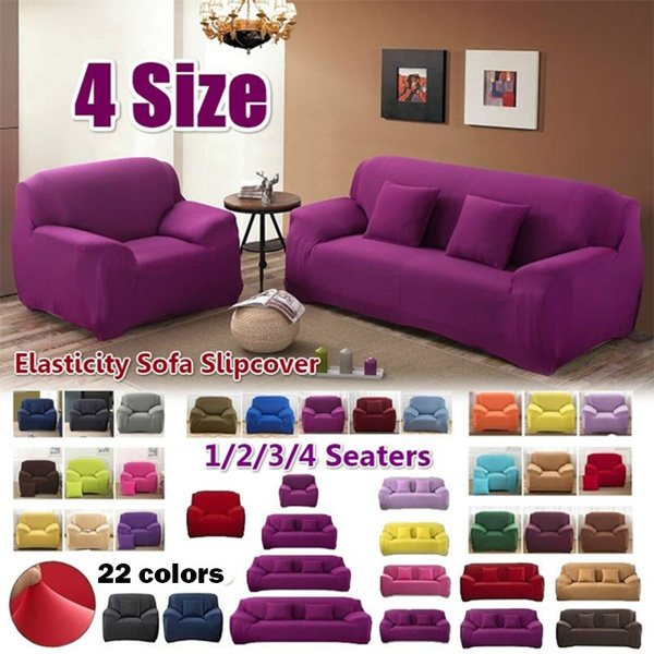 1/2/3/4 Seater Universal Sofa Slipcover Couch Cushion Furniture Covers  Elastic Case Corner Sofa Cover for Living Room