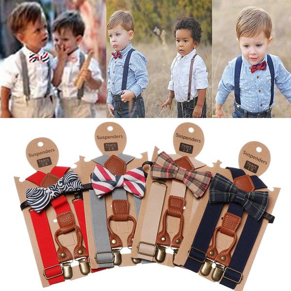 Children Suspenders Toddlers Wedding Belt Stylish Suspenders Boys Braces