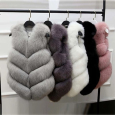 woolen coat, Fleece, sleevelessvest, fur