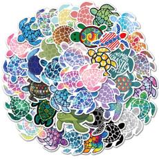 Turtle, Waterproof, Stickers, seaturtle