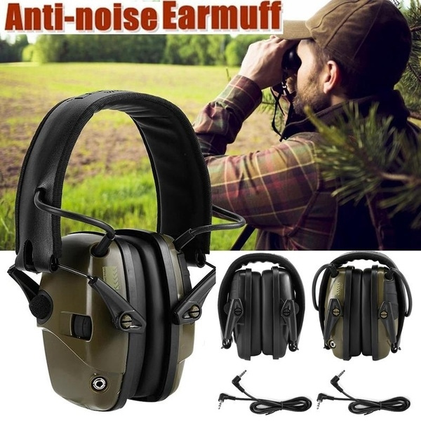 Electronic Ear Defender Headphones 82Db High NRR Safety Muffs Shooting Protector