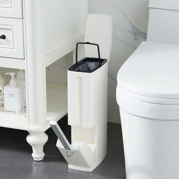 Trash Can Brush Set With Toilet