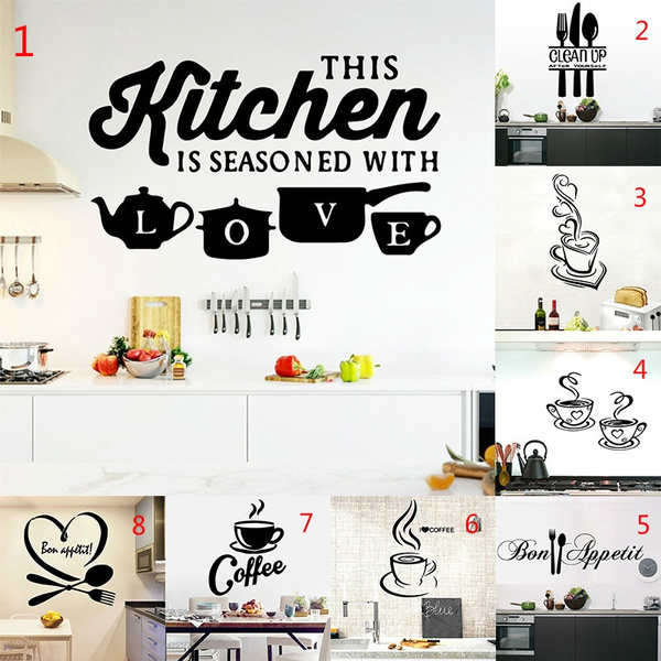 Kitchen Mural Cuisine Poster 1pc Hot Sale Vinyl Stickers House