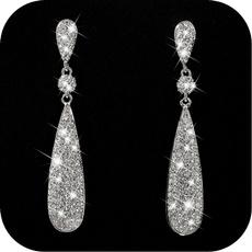 DIAMOND, dangleearing, gold, wedding earrings