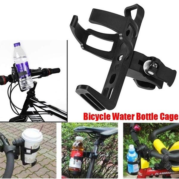 Motorcycle MTB Bike Bicycle Water Bottle Holder Plastic Drink Mount Rack Cage