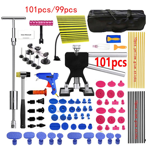 Set 10x Dent Tools Glue puller tabs blue Paintless Dent Repair Tool Pulling Kit