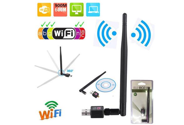 300Mbps Wireless USB WiFi Adapter Dongle Network LAN Card 802.11b//g//n w// Antenna