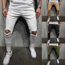 ripped, frayed, fit, pants