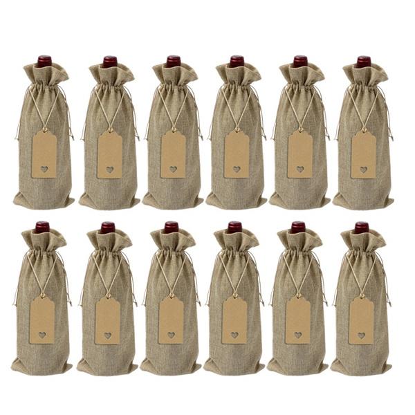 Burlap Wine Bags Jute Bottle