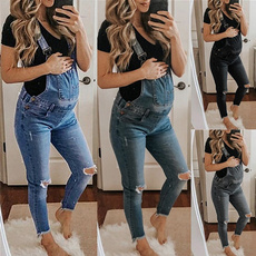 Jeans, fulllength, Fashion, maternityjumpsuit
