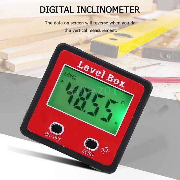 LCD Digital Protractor Spirit Bevel Level Box Angle Finder Gauge Inclinometer