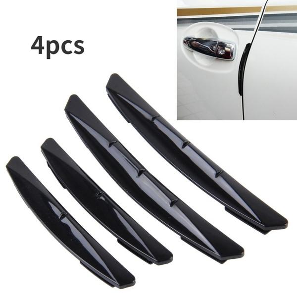 4Pcs Car Door Edge Guard Trim Scratch Protector Anti-collision Stickers Yellow