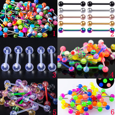 Colorful, tonguepiercing, tonguebarbell, nipplebar