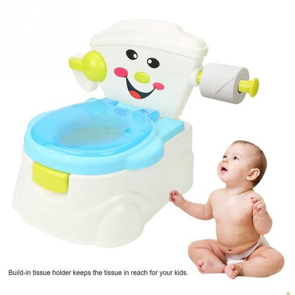 Green Potty Training Toilet Seat Baby Kids Toddler Pee Trainer Boy Girl