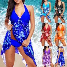 Summer, Plus Size, Plus Size Swimwear, chiffon