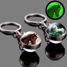horse, Key Chain, Chain, Glass