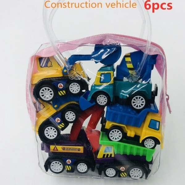 6pcs Pull Back Car Toys Mobile