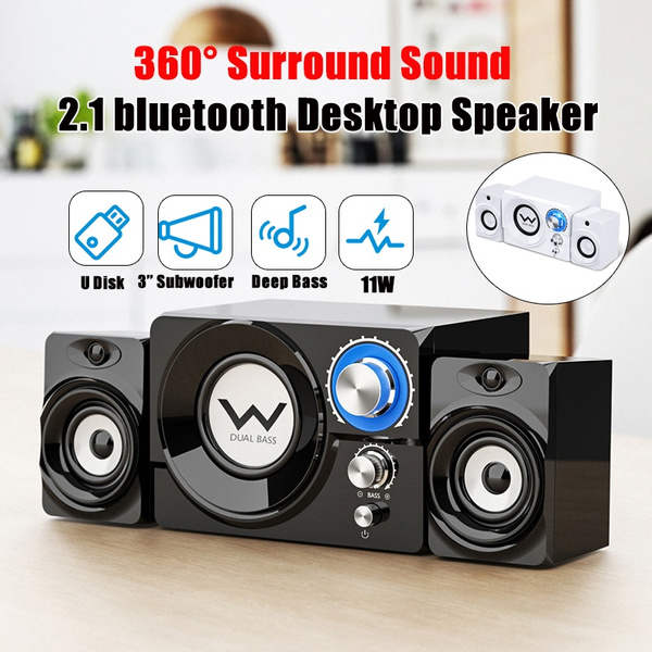 Sada Gaming Speaker 2 1 Channel Wooden Subwoofer Bluetooth Speaker With Deep Bass Rms 11 Watts Crystal Clear Sound For Pc Desktops Laptops Game Consoles Tablets Smartphones Wish