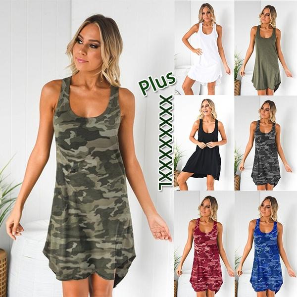 sleeveless, Fashion, plus size dress, Dress