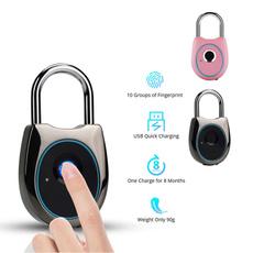 Rechargeable, Door, fingerprintlock, luggagelock