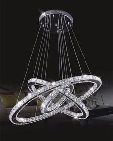 pendantlight, crystal ring, led, Home Decor