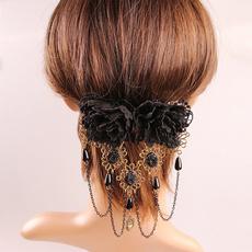 Flowers, headdress, Lace, headwear