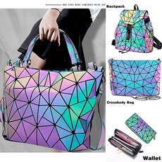 rainbow, Holographic, Bags, Backpacks