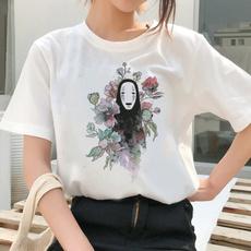 My neighbor totoro, white shirt, Cotton T Shirt, cute