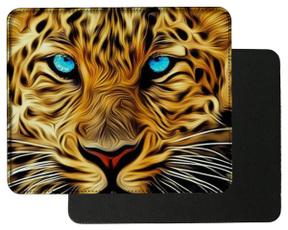 bleu, yeux, mousematpad, art